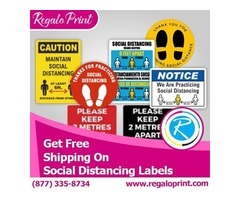 Get Free Shipping on Social Distancing Labels – RegaloPrint