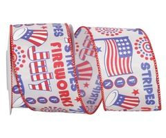 Fun Fourth of July Wired Edge Ribbon - The Ribbon Roll