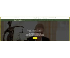 Lightning Lawyers | Best Professional Online Law Consultation | Legal Lawyers Website Development Co