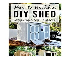 Yes you can make Shed in your backyard for everything what you want its easy