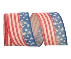 Vintage Continuous Flag Ribbon for 4th of July Celebrations