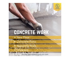 concrete work San Antonio
