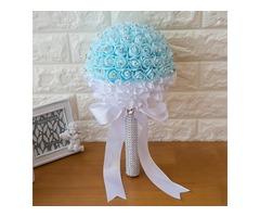Beading Satin Rose Wedding Bouquet