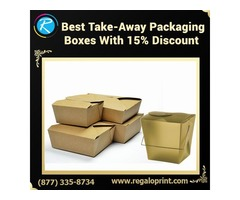 Best Take Away Packaging Boxes With 15% Discount – RegaloPrint