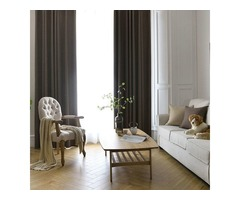 Shop Absolute Blackout Chocolate Brown Curtains Online-Voila Voile