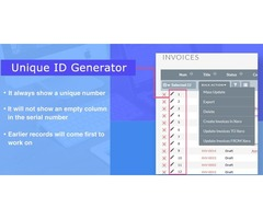 Unique Id Generator allocate a serial number for each record