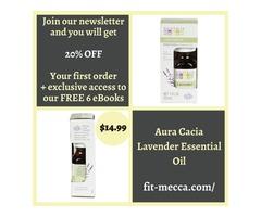 Pure Aura Cacia lavender essential oil for instant freshness
