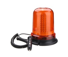 12V-24V Flashing Beacon Warning Signal Light 80 LED Magnetic Mount Rotating Amber