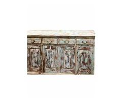 Rustic Distressed Blue Sideboards Drawer Chest Dresser Storage