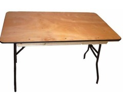 Plywood Folding Square Tables