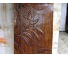 Custom wood carving design In California