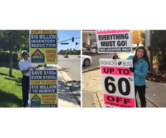 Sign walkers to increase traffic to your business