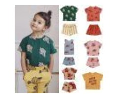ENKELIBB BABY BOYS T SHIRT TODDLER GIRLS TOPS FOR SUMMER CHERRY PATTERN T SHIRT KIDS CHILDREN FASHIO