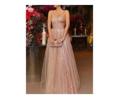 Sleeveless Sequins Floor-Length Mid Waist Womens Dress