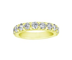 Lady's 14K Yellow Gold Straight Bands - SKU: 243433DU2