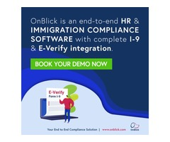 OnBlick – SaaS-based Immigration and HR Compliance Software
