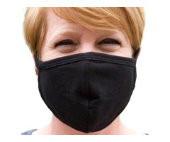 FACE MASK - BEST Buttonsmith Black Adult Cotton Face Mask with Filter Pocket - Made in The USA