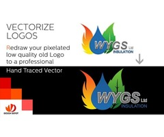 Redraw your existing logo as a high resolution vector