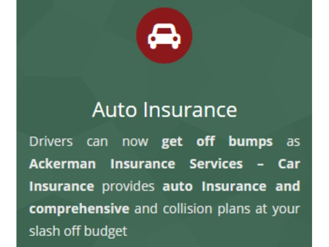 Car insurance service at Ackerman Insurance Services | free-classifieds-usa.com