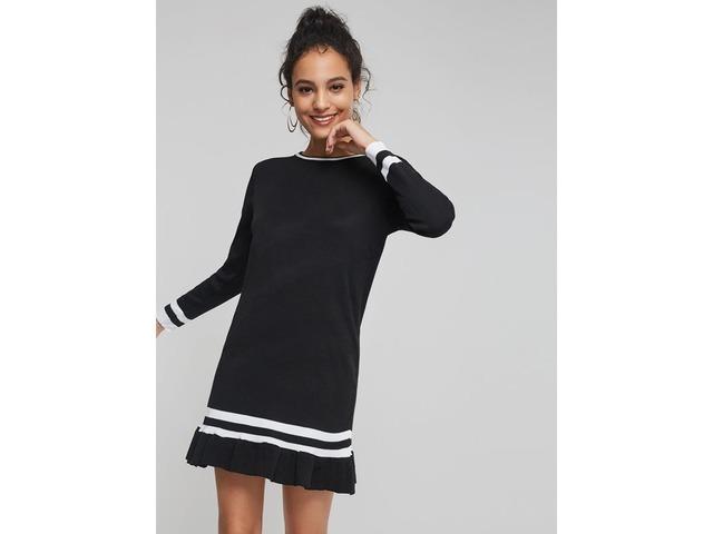 Round Neck Stripe Womens Long Sleeve Dress | free-classifieds-usa.com