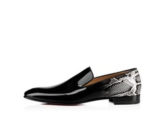 PU Print Slip-On Low-Cut Upper Dress Shoes