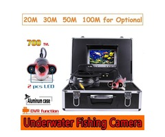 CR110-7J DVR Waterproof Under Water Camera with 2pcs Highlight White LEDs 20M to 100M Cable