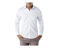Tidebuy Simple Style Plain Mens Casual Shirt