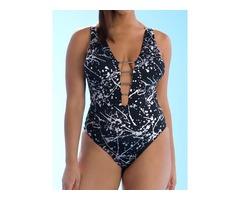Plus Size Print One Piece Sexy Swimwear