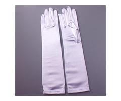 Plain Satin Wedding Gloves