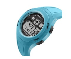 Candy Color Digital Safety Silicone Strap Kids Watch