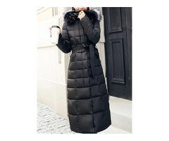 Thick Slim Zipper Long Womens Cotton Padded Jacket