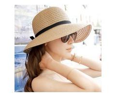 Sunscreen Adjustable Bowknot Sun Straw Hat