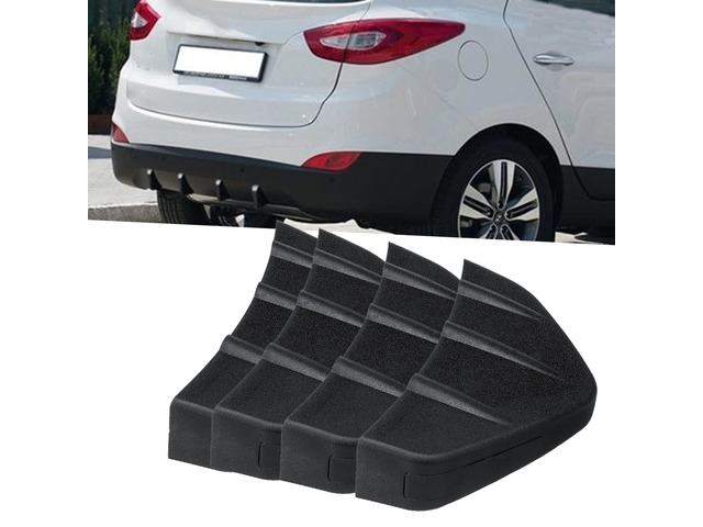 4Pcs Universal PVC Car Rear Bumper Diffuser Scratch Protector Cover Molding Trim | free-classifieds-usa.com