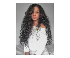 Lace Front Wig Loose Wave Guleless Human Hair Wigs For Black Women 120% Density with Baby Hair Natur