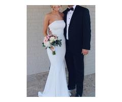 Simple Mermaid Strapless Wedding Dress