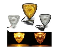 12V H4 35W Motorcycle Triangle Headlight  Hi/Lo Beam For Harley Chopper