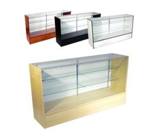 Retailers Chose Spacious Cash Wrap Customer Counters in Attractive Styles