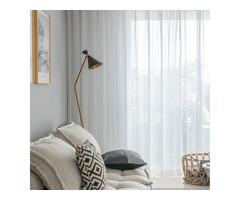 Shop Online White Sheer Curtains-Voila Voile