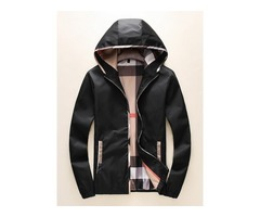 Color Block Patchwork Hooded Zipper Mens Jacket