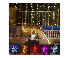 2M*3M 288LED Outdoor Christmas Xmas Wedding Party Fairy String Curtain Hanging Window Light EU Plug
