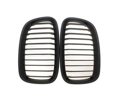 Matte Black Wide Front Kidney Grill Grilles For BMW 11-14 1 Series