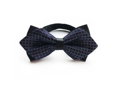 Plaid British Style Double-Layer Mens Bow Tie
