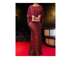 Round Neck Patchwork Long Sleeve Plain Mid Waist Womens Dress