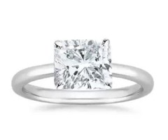 This 5.5 Carat Cushion Cut Solitaire Diamond Ring Would Simply Look Good