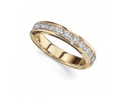 Lady's 14K Yellow Gold Straight Bands - SKU: 240010DU2