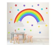 Rainbow Wall Decal For Nursery