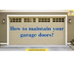 Tips to Maintain Your Garage Doors During Summer Season