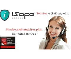 McAfee 2016 and 2017 Antivirus plus Unlimited Devices