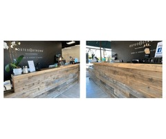 Get Reclaimed Wood Office Installation By Harwell Design