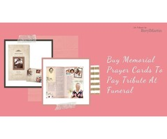 Buy Memorial Prayer Cards To Pay Tribute At Funeral